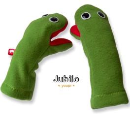 Jubilo Moufles Marionnettes vert yeux