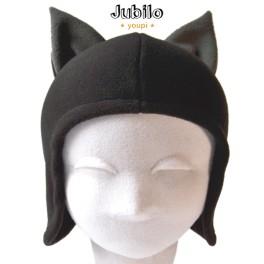 Jubilo Bonnet noir oreilles loup renard chat